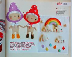 Made in Felt magazine - Cosy Tea Set Tutorial and a Happy Spring giveaway