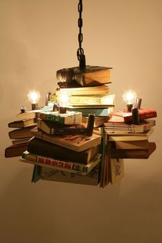 """slightlyignorant: """"Books. The gift that keeps on giving. And making amazing furniture/art/installation/lighting. """""""