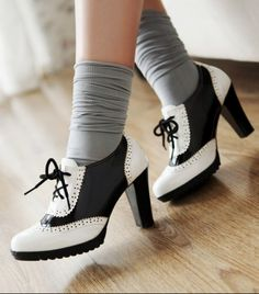 Oxfords + ankle socks