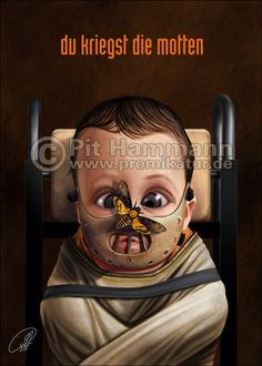 Classic Horror Movie Icons as Babies by Pat Hammann