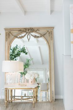 Favorite Element: I love the found vintage mirror circa 1890 from France. It's in original condition, and brings a bit of unexpected grandeur into this otherwise casual beach cottage.