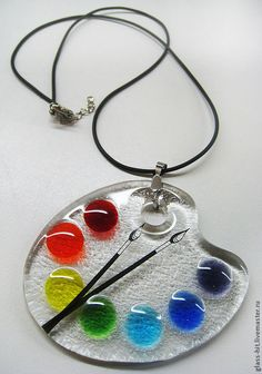 Product ID: 7876395248 – resin crafts Resin Jewelry Making, Fused Glass Jewelry, Fused Glass Art, Glass Pendants, Resin Jewellery, Beaded Jewelry, Cute Jewelry, Jewelry Crafts, Diy Resin Crafts