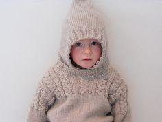 Debbie Bliss hoodie pattern. Knitted by Elizabeth Paterson.