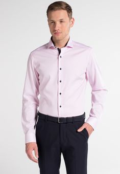 Hai, Slim Fit, Shirts, Shirt Dress, Mens Tops, Pink, Material, Dresses, Design