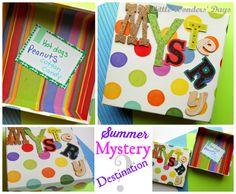 Summer Mystery Destination Box at Little Wonders' Days summer bucket ideas for kids