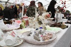 Vintage scene from the main marquee. Just one of our venues when we take over the town. Hay-on-Wye 1st December, Table Settings, Scene, Table Decorations, Christmas, Vintage, Home Decor, Xmas, Decoration Home