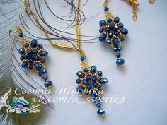 Кулон из кристаллов. Pendant crystals. - YouTube Beaded Rings, Beaded Necklace, Beaded Bracelets, Earring Tutorial, Bracelet Tutorial, Diy Schmuck, Schmuck Design, Bead Jewellery, Seed Bead Jewelry