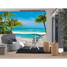 Brewster Home Fashions Ideal Decor Pool Wall Mural Ocean Mural, Wall Design, House Design, Floor Murals, Photo Mural, Decoration Originale, 3d Home, Mural Wall Art, My New Room