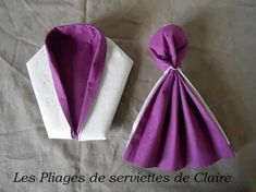 Pliage Serviette Robe De Princesse Diy Decoration Pliage De