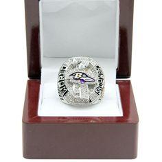 #baltimoreravens #ravensnation #ravens #goravens Custom 2012 Super Bowl XLVII Baltimore Ravens Championship Ring