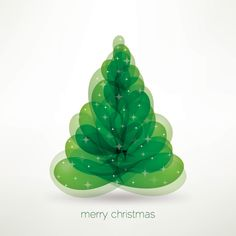 Merry Christmas Tree Vector Graphic - DryIcons