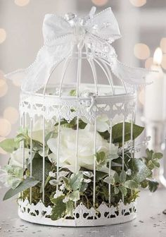 Want To Learn More? Visit Us For More Wedding Flowers & Bridal Bouquet Ideas Bird Cage Centerpiece, Table Centerpieces, Wedding Centerpieces, Wedding Decorations, Wedding Wreaths, Wedding Crafts, Wedding Ideas, Wedding Flower Design, Floral Wedding