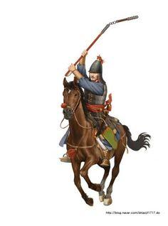 조선 중기 기병 the mid of Joseon's (flail)cavalry 출처(source): http://m.blog.naver.com/PostList.nhn?blogId=dnjscjf1717&categoryNo=0