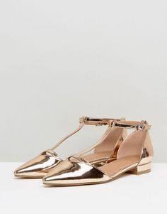 3bdec361dfb9 ASOS LEGACY Ballet Flats - Gold