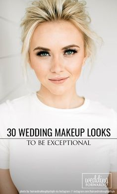 30 Wedding Makeup Looks To Be Exceptional ❤ Well-chosen wedding makeup can help you expose the good part of your face and make you look your best while you are photographed. Look at our collection. See more: http://www.weddingforward.com/wedding-makeup-looks/