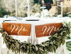 Mr. & Mrs chair signs