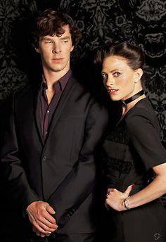 Sherlock and Irene. LOVE LOVE LOVE!