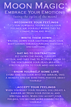 Moon Magic: 5 Steps to Embracing your Emotions - Trend Quotes 2020 Moon Spells, Magick Spells, Witchcraft, Spiritual Enlightenment, Spiritual Awakening, Spirituality, Full Moon Ritual, Stay Wild Moon Child, Moon Magic