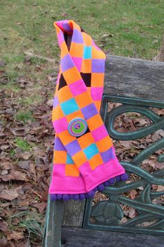Toddler Scarf/Muffler upcycled from knee socks by MimisWhimsey, $12.00