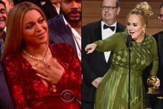 Beyoncé Reacts to Adele Acceptance Speech