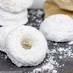 Baked Powdered Sugar Doughnuts Recipe - RecipeChart.com