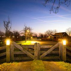 Driveway Entrance Landscaping, Driveway Gate, Fence Gate, Fencing, Front Gates, Entrance Gates, Split Rail Fence, Country Fences, Farm Gate