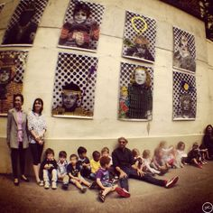 'Kids from a kindergarten school in Paris participated in the Inside Out project! Their parents played with my portrait as well. I loved their creativity! Thanks to Annie and Karine, the creative school teachers!'