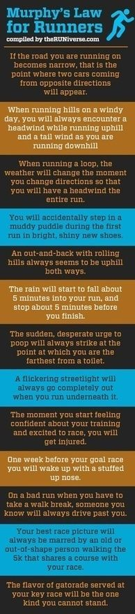 #running murphey's law for runners hilarious! Love the poop one!