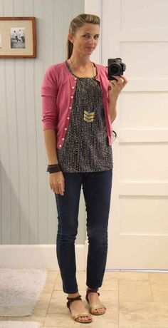 Another great outfit from The Pleated Poppy.  Love the cuff, the necklace, the sandals...