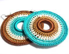 Captivating Crochet a Bodycon Dress Top Ideas. Dazzling Crochet a Bodycon Dress Top Ideas. Crochet Earrings Pattern, Crochet Jewelry Patterns, Crochet Accessories, Crochet Necklace, Crochet Rings, Diy Crochet, Crochet Crafts, Crochet Mandala, Crochet Flowers