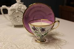 Teacup 0170 Secret Garden Scent   Lavender, Rose & Vanilla essential oils   Beautiful Daisy Designs. Teacup Candles, Organic Essential Oils, Candle Making, Bone China, Allergies, Tea Cups, Wax, Pure Products, Tableware