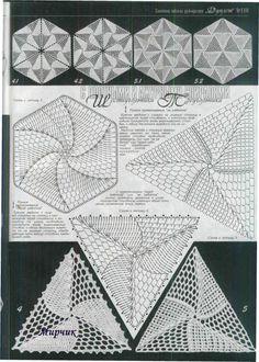 wzór spirali w trójkącie