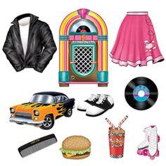 50s Diner jukebox | Details about 50s Soda Shop Diner Jukebox Grease Cutouts Diner Rock n ...