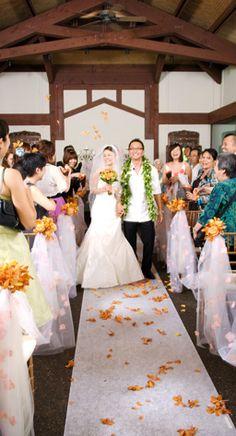 Haiku Gardens wedding venue or even better at a waterfall see http://hawaiiweddings.com/testimonials/completegallery/