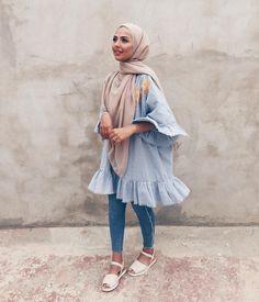 Hijab style for summers summer fashion стили хиджабов, мода Modern Hijab Fashion, Street Hijab Fashion, Hijab Fashion Inspiration, Islamic Fashion, Muslim Fashion, Mode Inspiration, Modest Fashion, Fashion Outfits, Hijab Chic