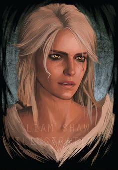 Witcher 3 Ciri Artwork by Liam Shaw Ciri Witcher, The Witcher Geralt, Witcher Art, Witcher 3 Wild Hunt, Mood Images, Medieval Fantasy, Games For Girls, Portraits, Drawing People