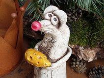 Keramik Maus Unikat Deko Gartendeko Gartenfigur