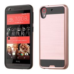 MYBAT Merge Brushed HTC Desire 626 Case - Rose Gold/Black