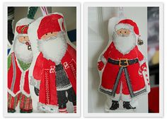 Santa's made from ikea fabric. Ikea Fabric, Christmas Decorations, Holiday Decor, Christmas Is Coming, Food Gifts, Christmas Stockings, Giveaway, Santa, Craft Ideas