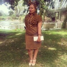 Traditional African Shweshwe Dresses Styles For Women. Shweshwe attires are a cotton indigo Fab Traditional Dresses Designs, Traditional African Clothing, Traditional Outfits, African Dresses For Women, African Fashion Dresses, Fashion Outfits, Fashion Styles, African Women, Xhosa Attire