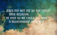 Why Jesus died.