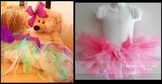 I asked the guests at the Baby Shower I hosted to make a tutu for the baby...I had all different colors of tulle, ribbon, and lace so the Mom to be would take home many different ones.