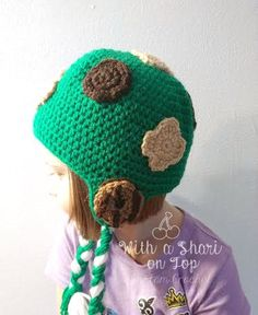 Girl Scout Cookie Inspired Hat Earflaps Girl Scouts Cookies Samoas Thin Mints Cookie Booth Sales Green and White Daisies Brownies Juniors by WithaSharionTop on Etsy