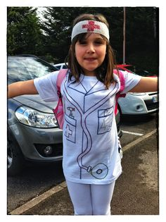 Career day diy costume for kids doctor costume diy pinterest a quick doctor costume was needed out came a new t shirt and some solutioingenieria Image collections
