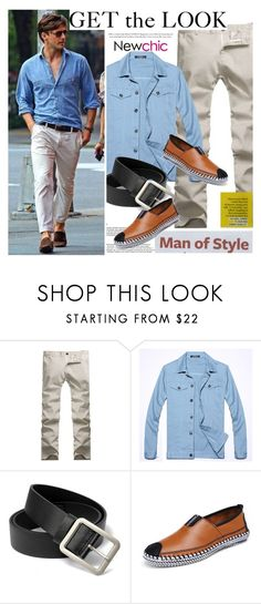 """""""NewChic.com"""" by vict0ria ❤ liked on Polyvore featuring ADAM, men's fashion and menswear"""