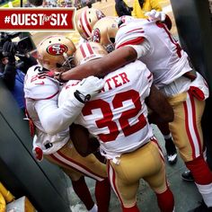 #49ers getting ready to take on the Packers #QuestForSix (1/5/14)