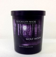 Wolf Moon Deluxe musk scented soy candle in by WitchCityWicks, $17.00
