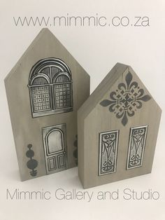 """Our """"Happy Home"""" kits are two of many new fabulous creative Pewter kits launched at Hobby-X available soon From www.mimmic.co.za"""
