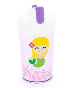 Look at this #zulilyfind! Purple Mermaid 13-Oz. Personalized Water Bottle #zulilyfinds