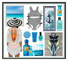 """""""Trip to the beach"""" by beanpod ❤ liked on Polyvore featuring PBteen, Pottery Barn, Lauren B. Beauty, Shiseido, Deborah Lippmann, Tom Ford and Bumble and bumble"""